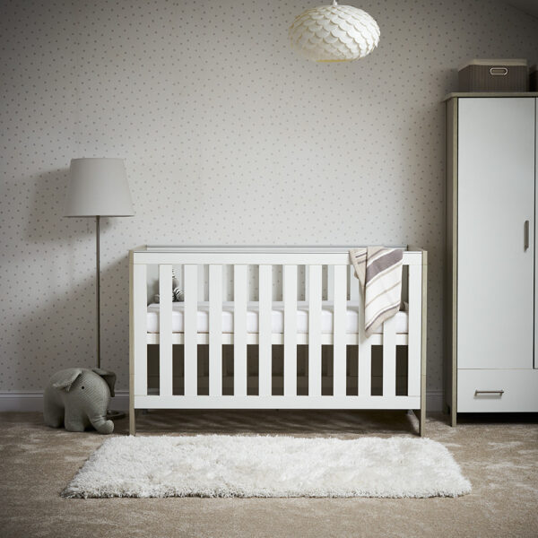 Obaby Nika Cot Bed – Grey Wash & White NEW 2020 - EASTER OFFER