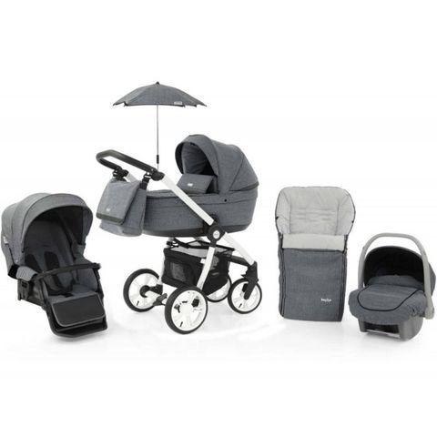 BabyStyle Prestige 3 3in1 Travel System White Frame / Black-Misty Grey