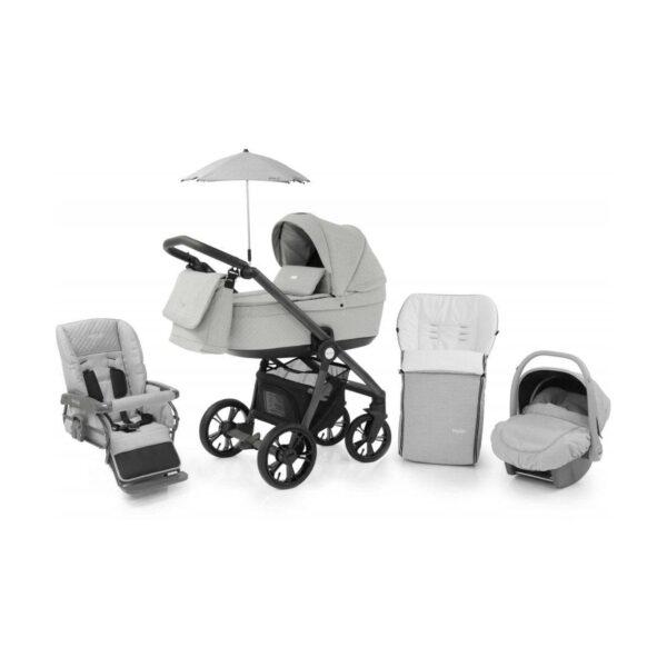 BabyStyle Prestige 3 3in1 Travel System Grey Frame/Black-Flint