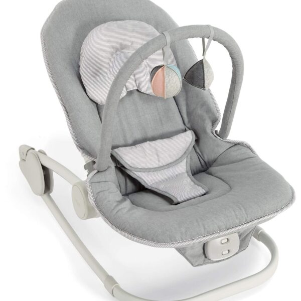 Mamas & Papas Wave Rocker Baby Bouncer Chair - Grey Melange
