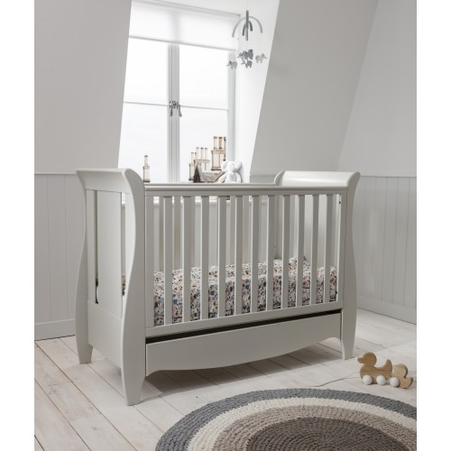 Tutti Bambini Roma Mini Sleigh Cot Bed - Linen