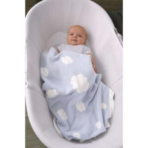 Shnuggle Cosy Knit Cotton Blanket - Clouds