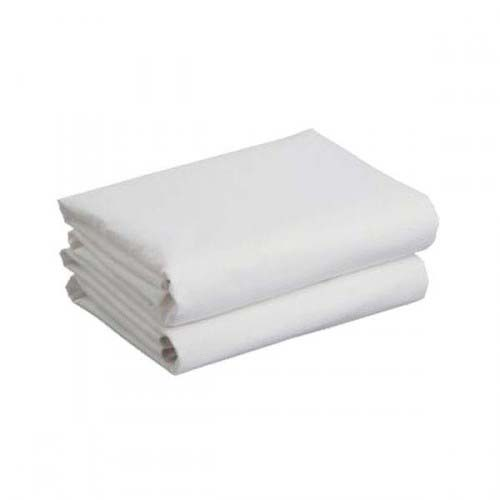 Cuddles Cotbed Sheets White 2 Pack