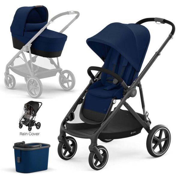 CYBEX Gazelle S Pushchair + Carrycot - Navy Blue