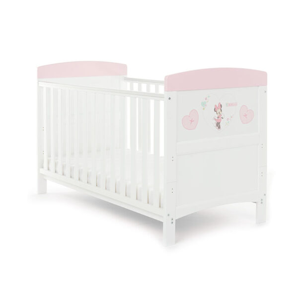 Obaby Minnie Mouse Cot Bed Hearts