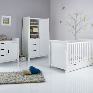 Obaby Classic Stamford 3 piece furniture set - White