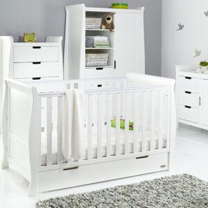 Obaby Stamford Classic 4 Piece Room Set - White