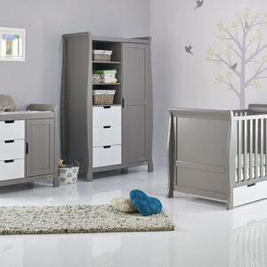 Obaby Stamford Classic 3 Piece Furniture Set - Taupe Grey with White