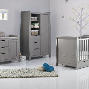 Obaby Stamford Classic 3 Piece Furniture Set - Taupe Grey