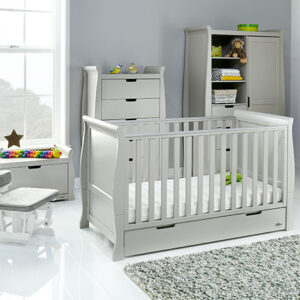 Obaby Stamford Classic 7 Piece Furniture Set - Warm Grey