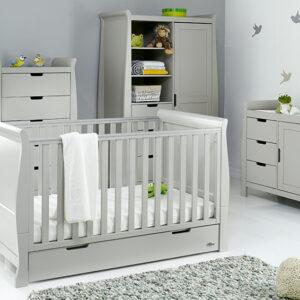 Obaby Classic Stamford Classic 4 piece furniture set – Warm Grey