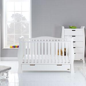 Obaby Stamford Luxe 5 Piece Furniture Room Set - White