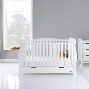 Obaby Stamford Luxe 3 Piece Furniture Room Set - White