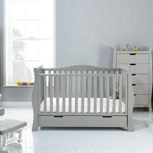 Obaby Stamford Luxe 5 Piece Furniture Set - Warm Grey