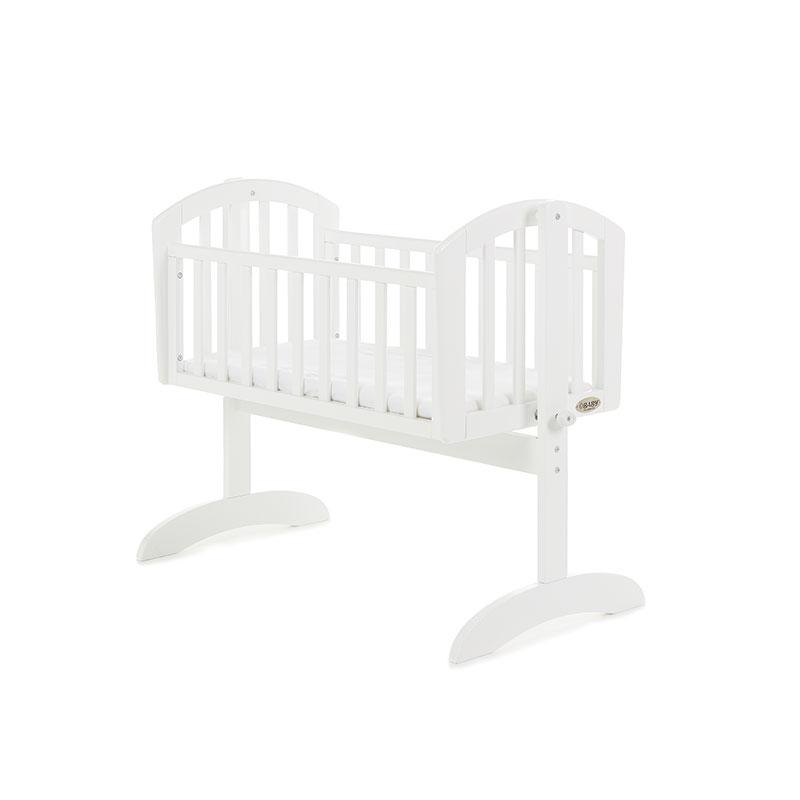 Obaby Sophie Swinging Crib - White with Mattress