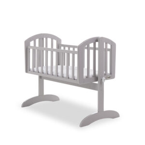 Obaby Sophie Swinging Crib Warm Grey With Mattress - EASTER OFFER