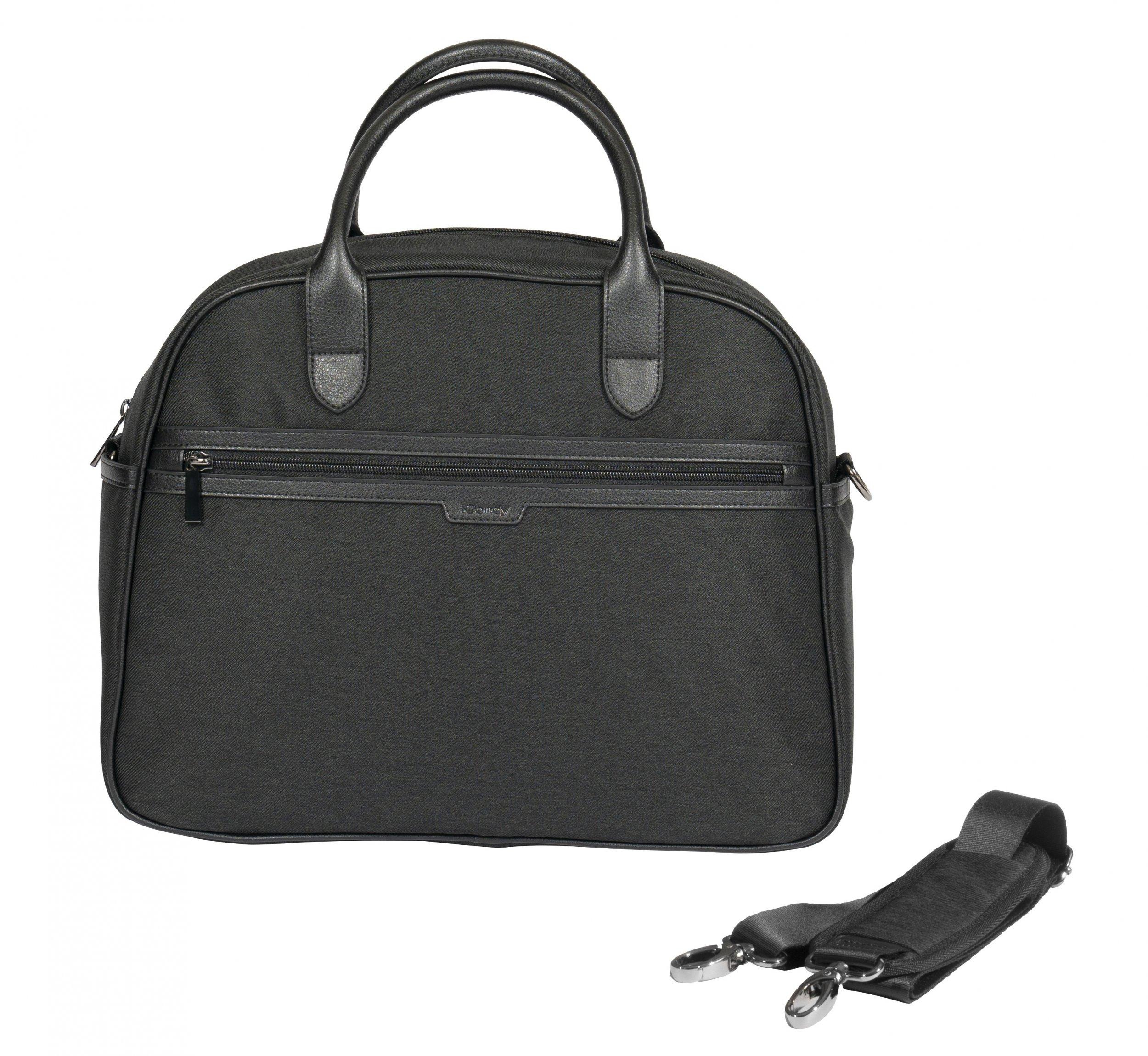 iCandy Peach Changing Bag & Bag Hook - Black Twill