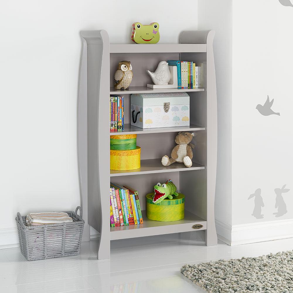 oBaby Stamford Sleigh Bookcase – Warm Grey