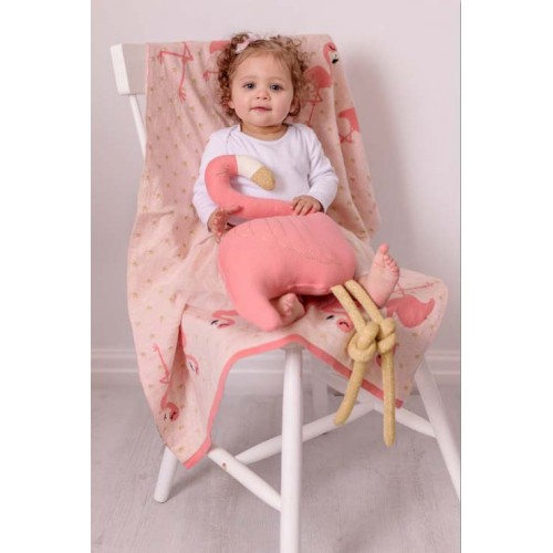 Bizzi Growin Cushion Flora Flamingo Shaped