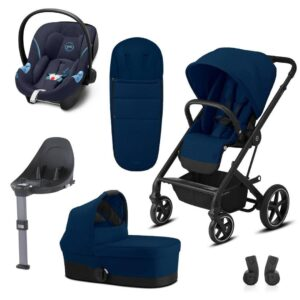 CYBEX Balios S Lux Travel System - Navy Blue