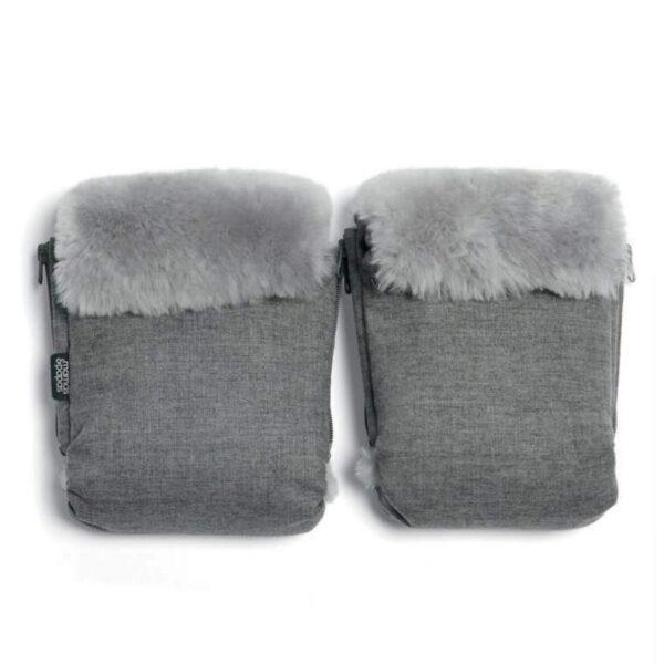 Mamas & Papas Luxury Sheepskin Pram Mitts - Grey