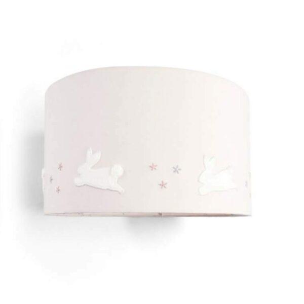 Mamas & Papas -Welcome to the World Floral Lampshade - Floral & Pink Striped