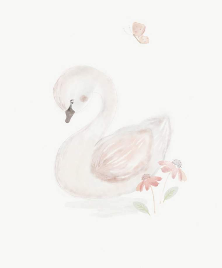 Mamas & Papas Welcome to the World Wall Art - Swan