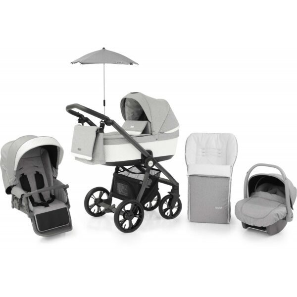 BabyStyle Prestige 3 Pram Frost Active Grey Chassis