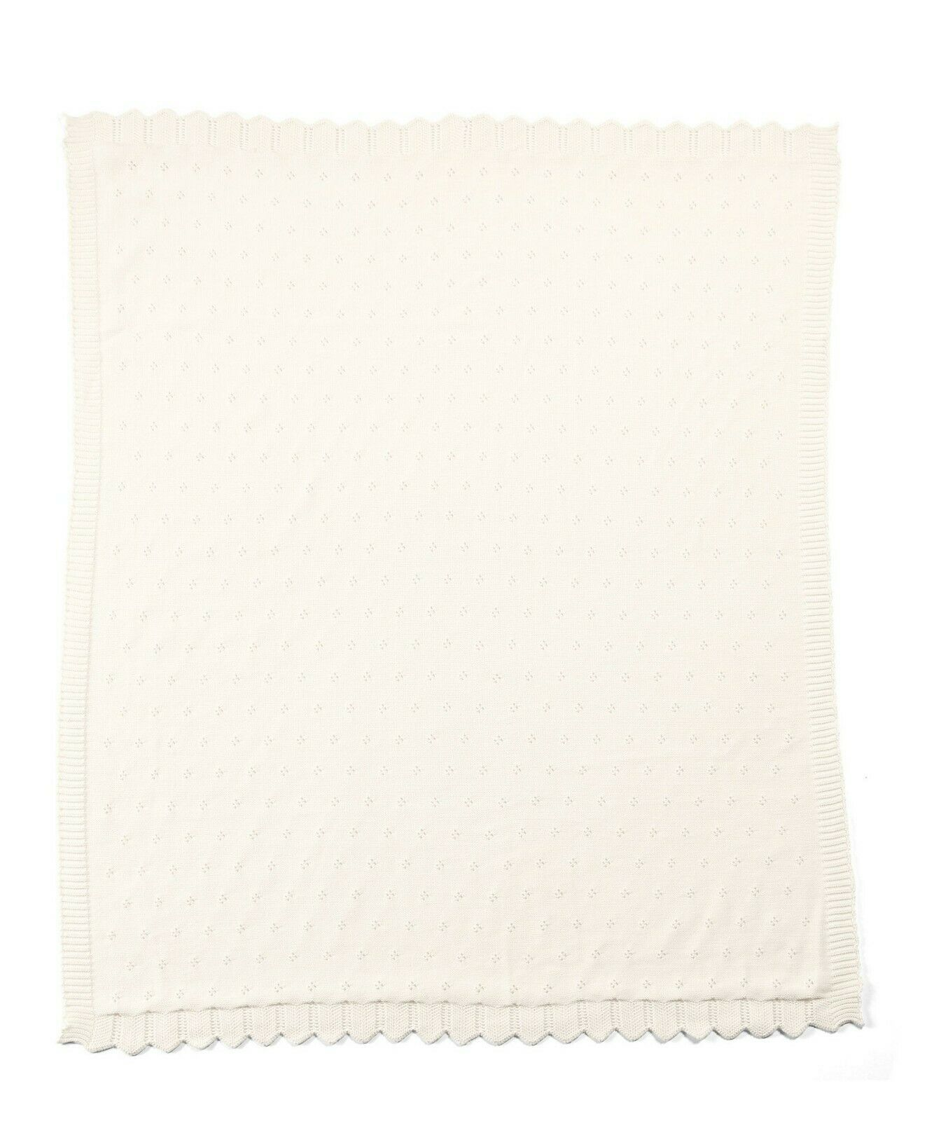 Mamas & Papas - Lilybelle - Cream Pointelle Knitted Blanket 70 x 90cm