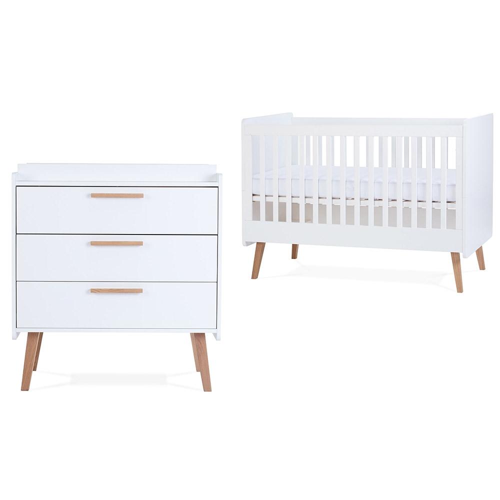 Silver Cross Brighton Nursery Cotbed & Dresser