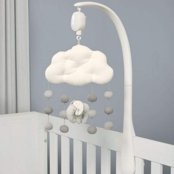 NEW Mamas & Papas Welcome To The World Elephant Grey Musical Mobile