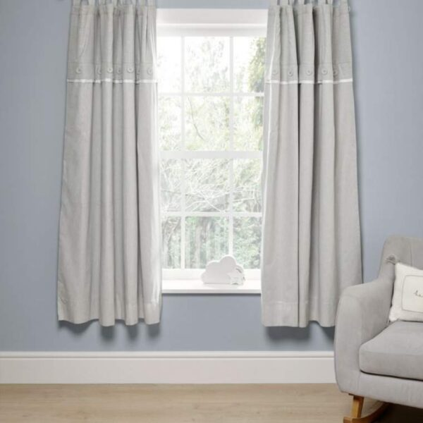 NEW Mamas & Papas Welcome To The World Elephant Grey Black Out Curtains (132X160)