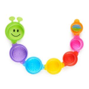 Munchkin Bath Toy Cups Caterpillar Spillers 7Pk