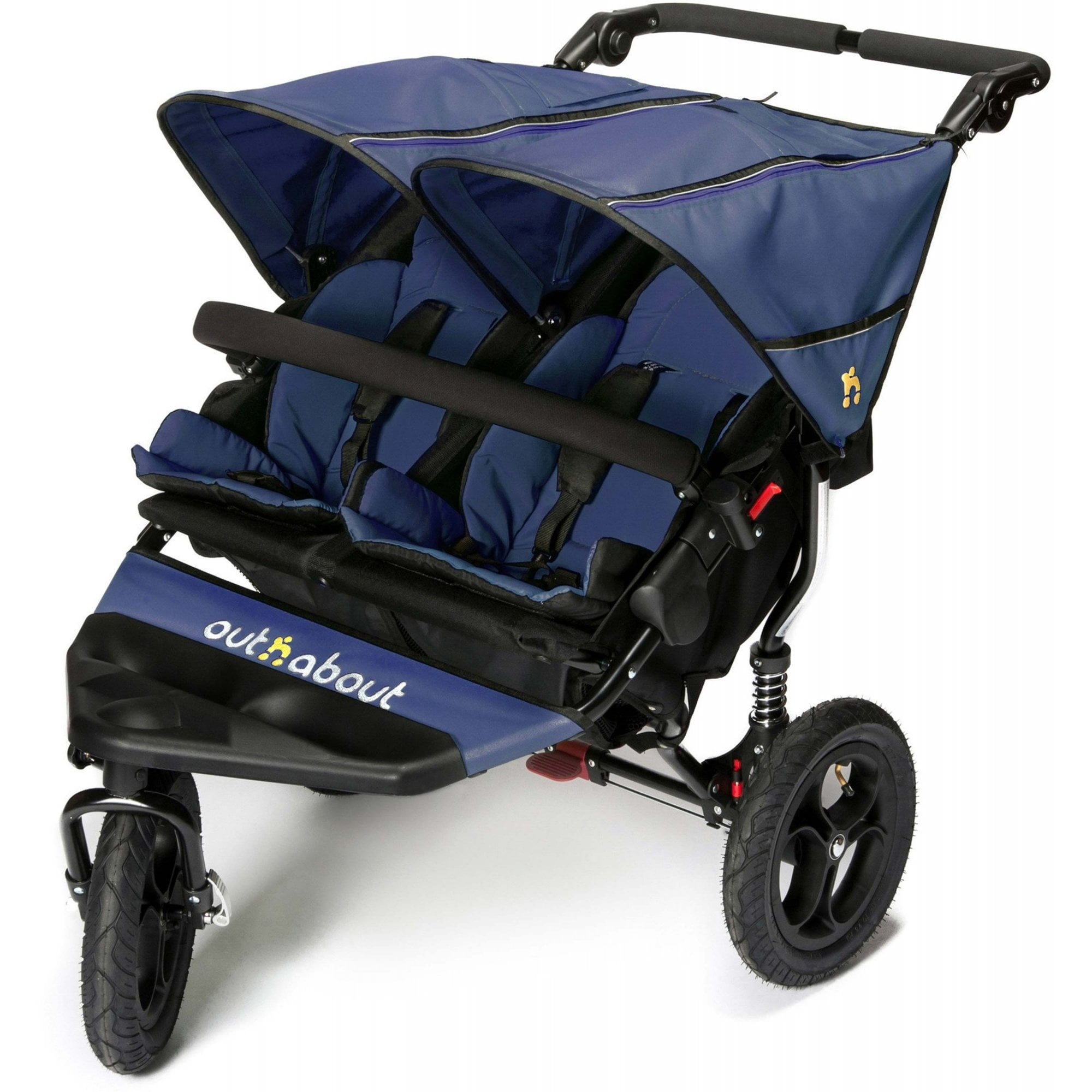 OUT N ABOUT DOUBLE NIPPER V4 – ROYAL NAVY – INCLUDES RAINCOVER & BASKET