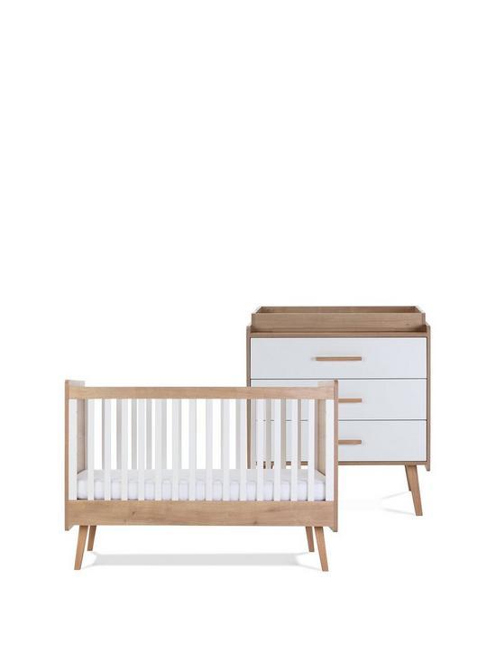 Silver Cross Westport Nursery Cotbed, Dresser. Wardrobe & Shelf