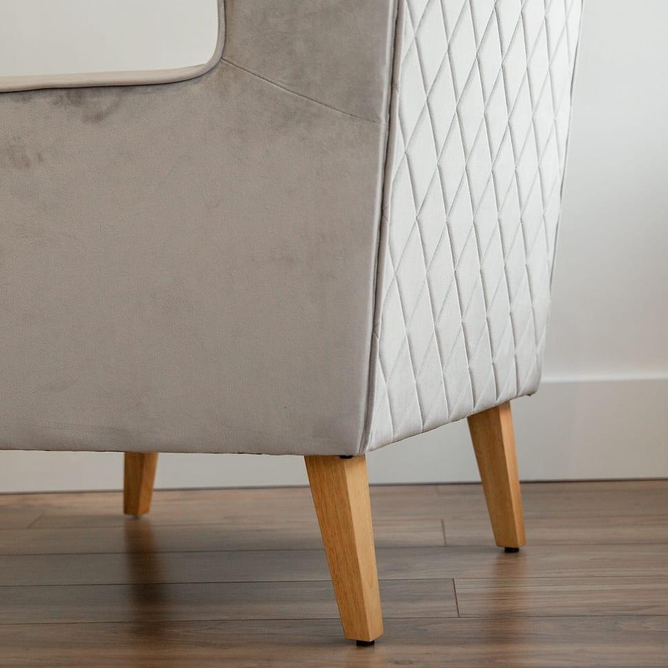 Convertible Nursing Rocking Chair Mink Grey Natural Legs