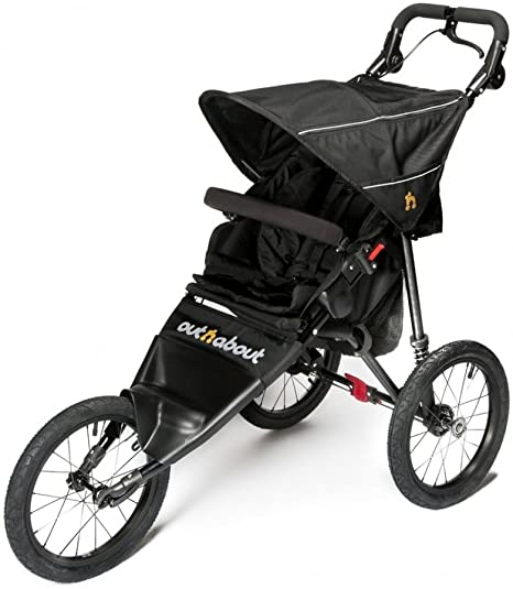 OUT N ABOUT NIPPER SPORT SINGLE V4 – RAVEN BLACK – INCLUDES RAINCOVER & BASKET