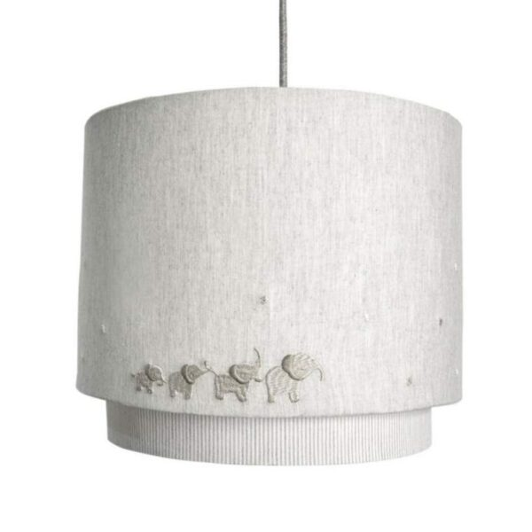 NEW Mamas & Papas Welcome To The World Elephant Grey Lampshade