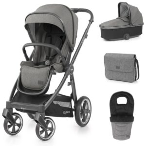 Babystyle Oyster 3 Luxury 7 Piece Package Mercury City Grey Includes Capsule Car Seat