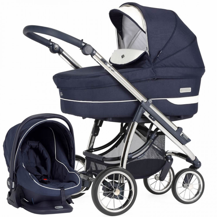 Bebecar Ip-Op Classic XL Complete Travel System Pack includes Raincover & LA3 Kit - Midnight Blue