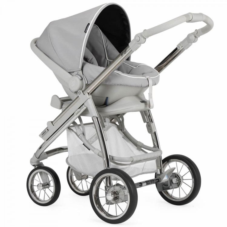 Bebecar Ip-Op Classic XL Complete Travel System Pack includes Raincover & LA3 Kit - Silver Grey
