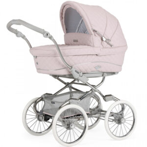 Bebecar Stylo Class+ Special 3 in 1 Combination Pram includes Raincover & LA3 Kit - Soft Pink