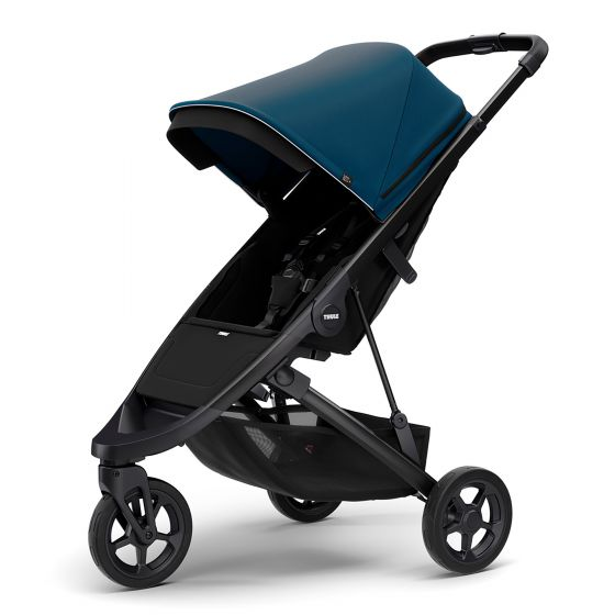 Thule Spring Stroller with Black Chassis Majolica Blue