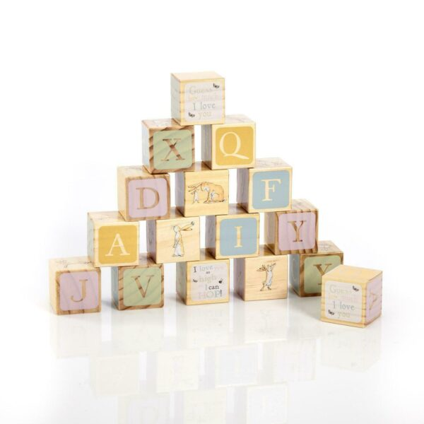 Rainbow Designs Guess How Much I Love You Wooden Picture Blocks