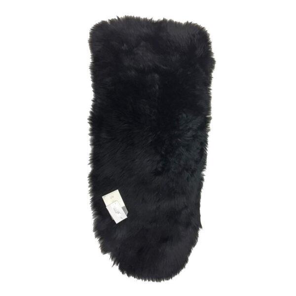 Bozz Longwool 100% Sheepskin Pushchair Seat Liner - Steel Black