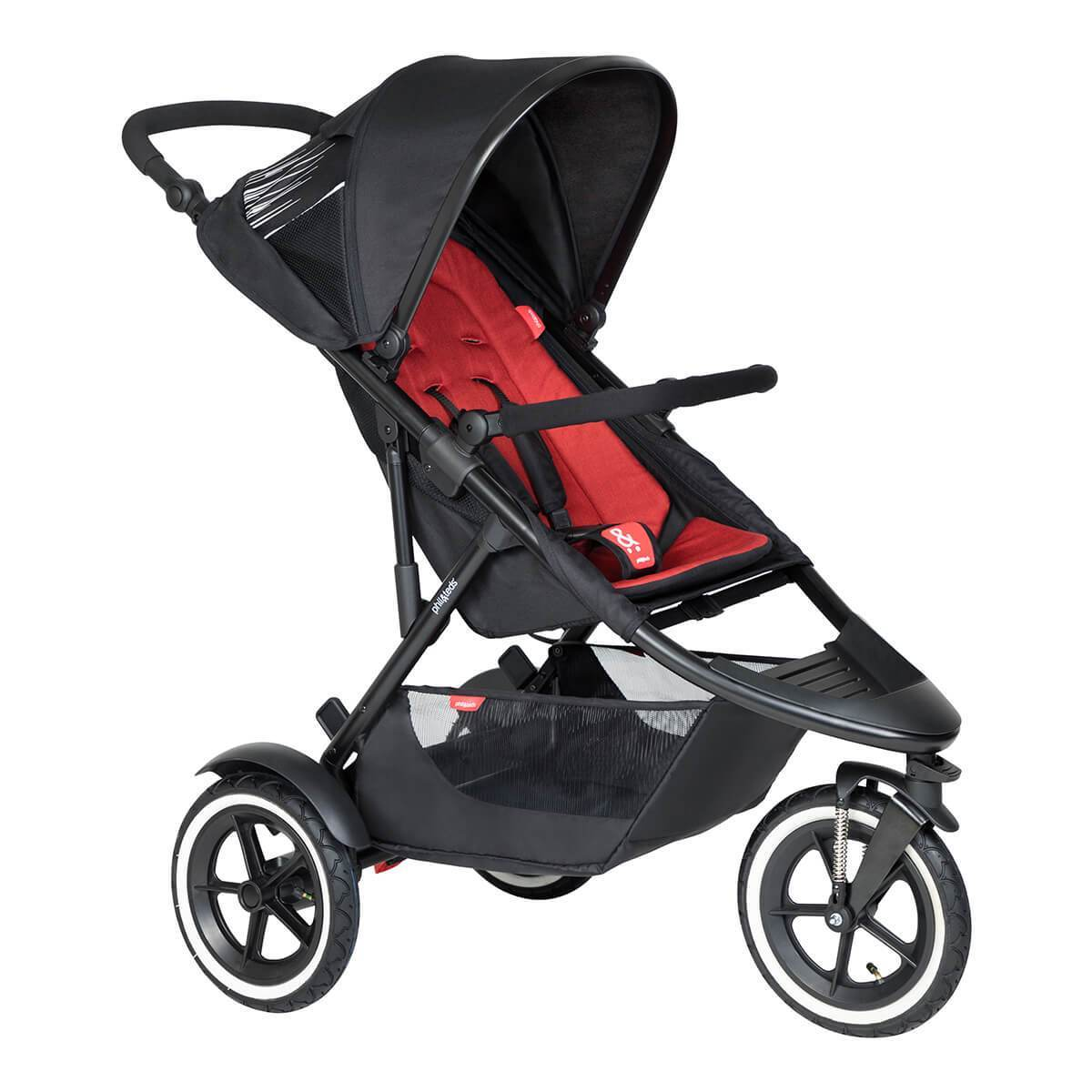 Phil & Teds Sport Single Jogger - Chilli Red