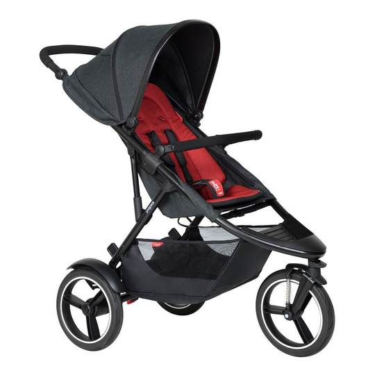 Phil & Teds Dash Inline Jogger - Chilli Red
