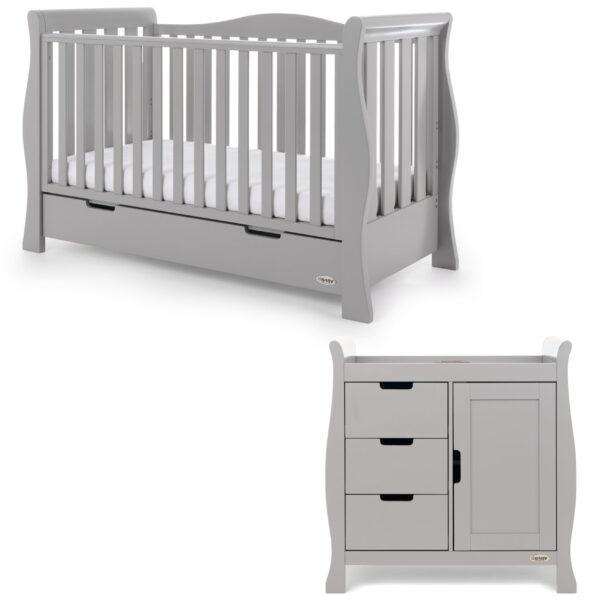 Obaby Stamford Luxe 2 Piece Room Set - Warm Grey