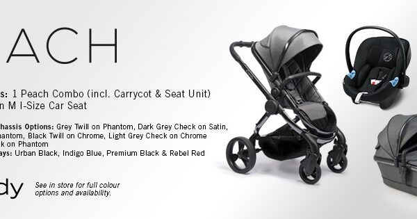 iCandy Peach Combo Lux - Inlcuding Cybex Aton M Car Seat - Different Colours Available