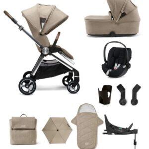 Mamas & Papas Strada 9 Piece Complete Bundle with Cloud Z Car Seat - Cashmere